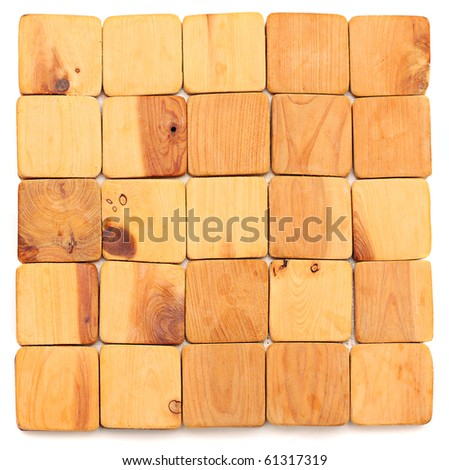 Square wooden background. - stock photo