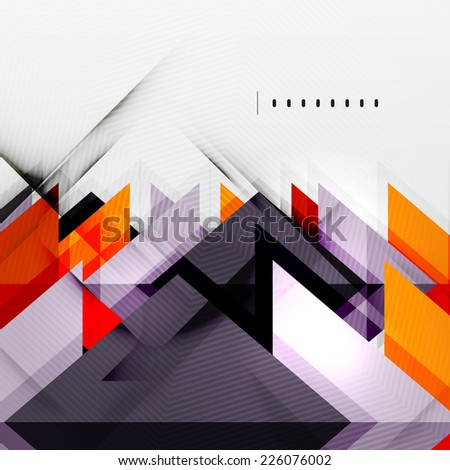 Squares and shadows - colorful geometric futuristic tech abstract background - stock photo