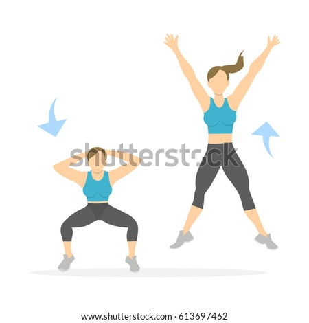 Squat Exercise Stock Illustrations, Images & Vectors ...