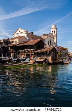 Squero St. Trovaso, Venice, Veneto, Italy - stock photo