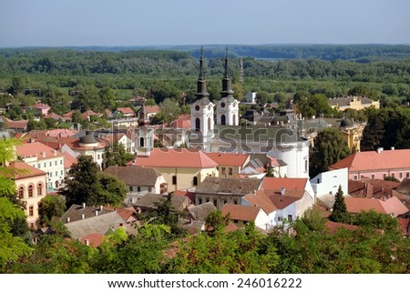 Sremski Karlovci historic town, Serbia - stock photo