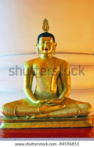 Sri Lanka bronze Buddha statue - stock photo
