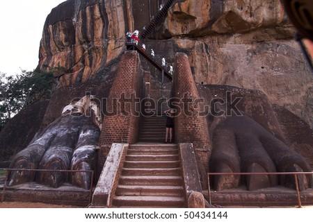 Sri Lanka - Ceylon - Sigiriya - Lion's rock - stock photo