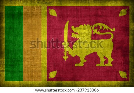 Sri Lanka flag pattern ,retro vintage style - stock photo