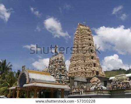 Sri Lanka - Matale - view of Hindu temple - stock photo