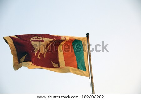 Sri Lanka waving - stock photo