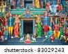 Sri Mariamman Temple, Singapore's oldest Hindu temple - stock photo
