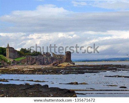 St Andrews Castle, Scotland, United Kingdom - stock photo