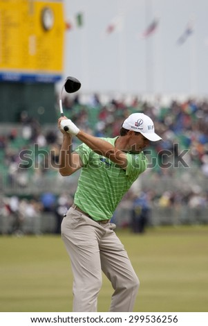 ST ANDREWS, SCOTLAND. July 15 2010: Padraig HARRINGTON from the Republic of Ireland in action on the first day of The Open Championship   played on The Royal and Ancient Old Course - stock photo