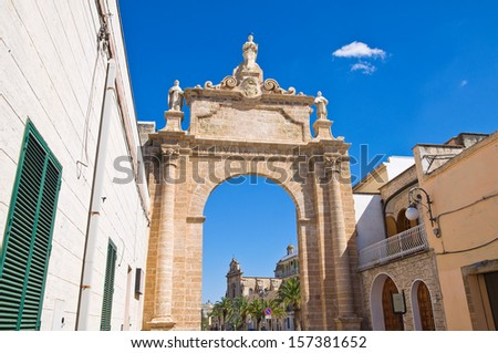 St. Angelo Arch. Manduria. Puglia. Italy. - stock photo