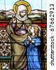 St. Anne and the Blessed Mother As A Child Vertical - stock photo
