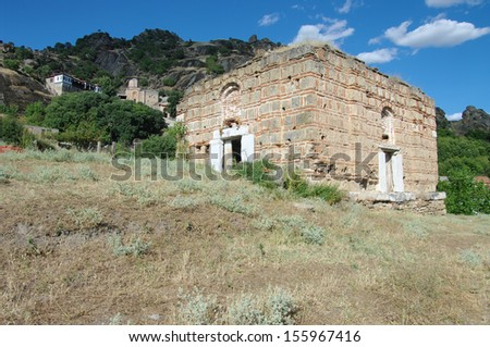 St. Atanas Church, on background the Monastery Holy Archangel Michael, Varos, Prilep, Montenegro