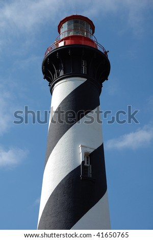 St Augustine Striped Lighthouse Tower - stock photo