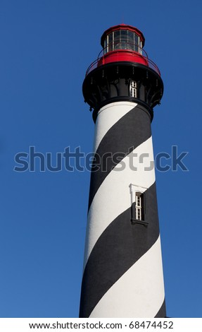 St. Augustine working lighthouse in Florida - stock photo