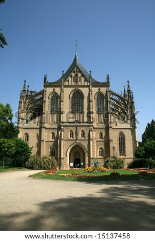St.Barbara's Cathedral in Kutna Hora,Czech republic