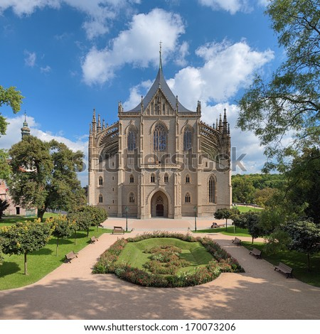 St. Barbara's Church in Kutna Hora - one of the most famous Gothic churches in central Europe, Czech Republic