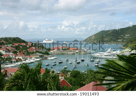 St Barts Harbor - stock photo