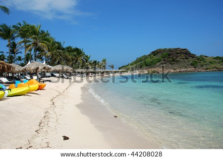 St Barts resort beach - stock photo