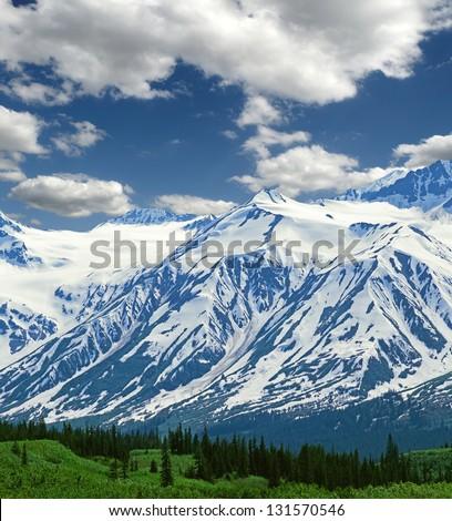St.Elias Mountains in Canada (Yukon Territories) - stock photo