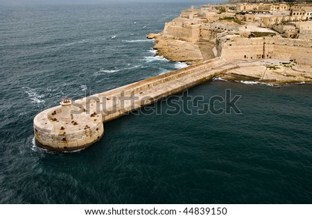 St. Elmo Light, Malta - stock photo