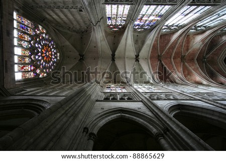 st etienne cathedral auxerre burgundy region stock photo royalty free 88865629 shutterstock. Black Bedroom Furniture Sets. Home Design Ideas