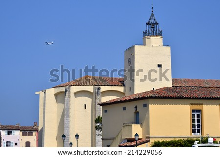 St Francis of Assisi Church of Port Grimaud in the Var department in France - stock photo