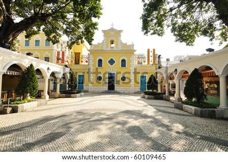 St. Francis Xavier Church - stock photo