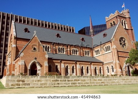 St Georges Cathedral in Perth City - stock photo