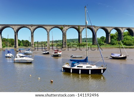 St Germans Quay in Cornwall. - stock photo