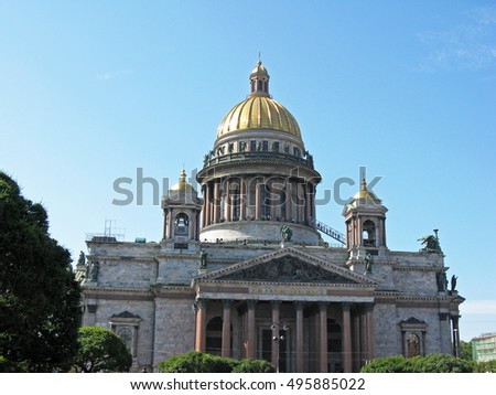 St. Isaac's Cathedral in Saint Petersburg. Russia.