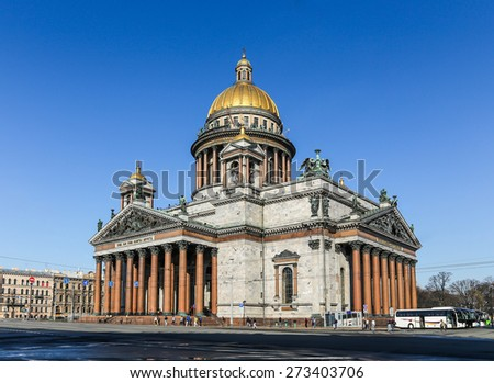 St Isaacs Cathedral, St Petersburg, Russia