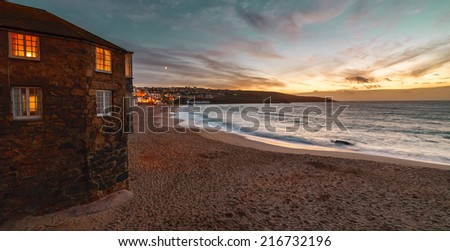 St. Ives Beach front - stock photo