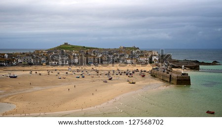 St Ives early evening - stock photo