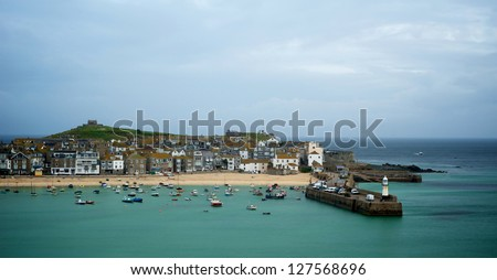 St Ives early morning - stock photo