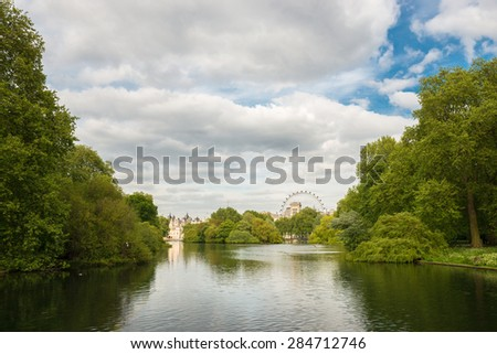 St James Park at London. - stock photo