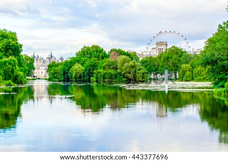 St. James Park in London during daytime - stock photo