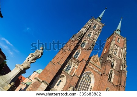 st john cathedral in Wroclaw, Poland - stock photo