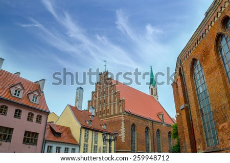 St. John's Church in Riga. Latvia