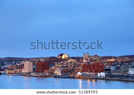 St. John's cityscape - stock photo