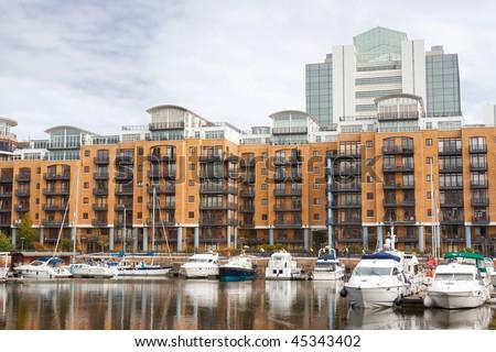 St Katharine dock in London, UK - stock photo
