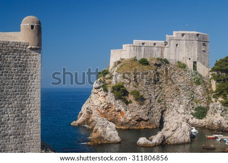 St. Lawrence Fortress of Dubrovnik, Croatia - stock photo