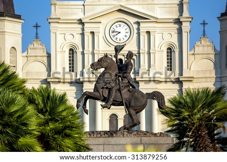 St. Louis Cathedral in the French Quarter, New Orleans, Louisiana - stock photo