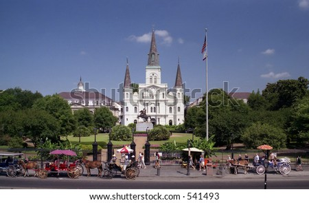 St. Louis Cathedral New Orleans French Quarter, Best at Smaller Size - stock photo