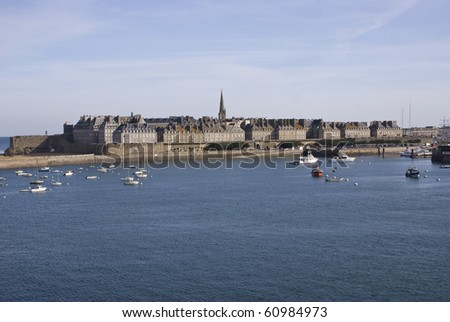 St Malo from the sea - stock photo