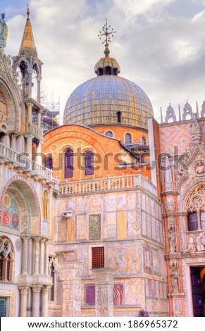 St Mark's Basilica venice, Italy - stock photo
