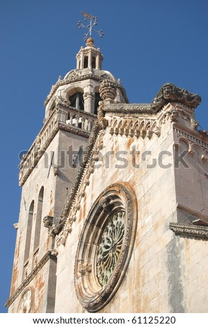 St. Mark's Cathedral in Korcula, Croatia