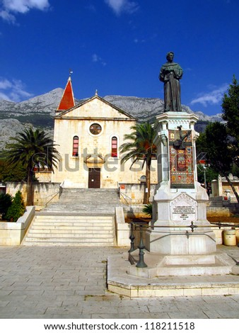 St. Mark's Church on the square Kaciceva in Makarska, Croatia