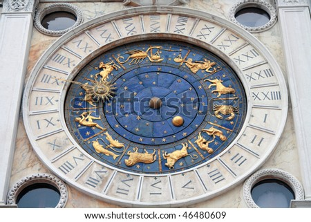 St.Mark's Clocktower, situated on St.Mark's Square in Venice, Italy