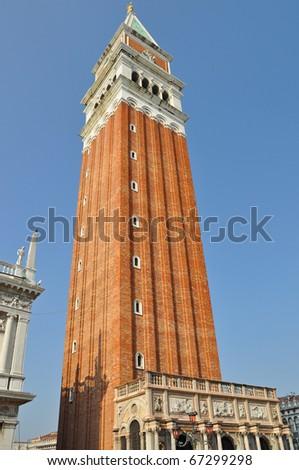 St Marks Campanile (Campanile di San Marco) in Venice, Italy. - stock photo
