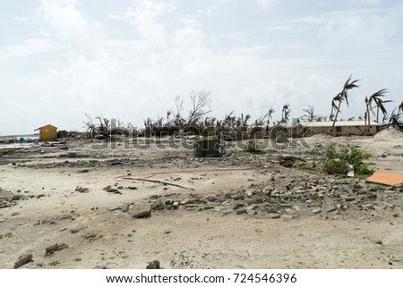 StMartin Orient Bay September 2017 Hurricane Irma Category 5 Storm Create Catastrophic Damages